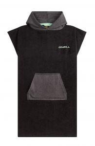 O'Neill---Badcape-met-capuchon-voor-heren---Jack's-Towel---Zwartgrijs