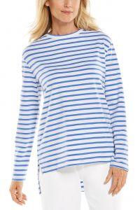 Coolibar---UV-Shirt-voor-dames---Carington-Tee---Blauw/Wit
