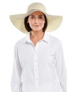 Coolibar---UV-werende-gestreepte-Zonnehoed-voor-dames---Marlee---Multi