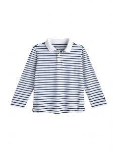 Coolibar---UV-Poloshirt-voor-peuters---Longsleeve---Coppitt---Wit/Navy