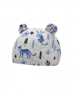 Coolibar---UV-werende-babymuts---Critter-Fauna---Grijs/Luipaard
