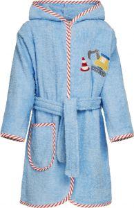 Playshoes---Badjas-voor-jongens---Bouwplaats---Lichtblauw