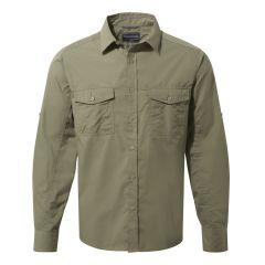 Craghoppers---UV-Overhemd-voor-heren---Longsleeve---Kiwi---Mosgroen