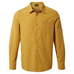 Craghoppers---UV-Overhemd-voor-heren---Longsleeve---Kiwi-Ridge---Donkergeel