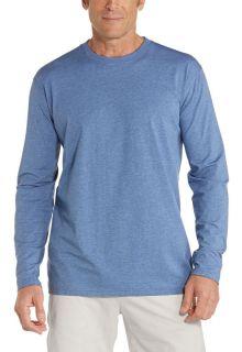 Coolibar---UV-Shirt-voor-heren---Longsleeve---Morada---Pacific-blauw