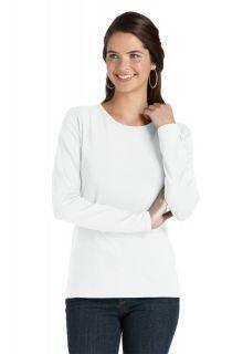 Coolibar---UV-Shirt-voor-dames---Longsleeve---Morada---Wit