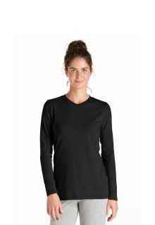 Coolibar---UV-longsleeve-shirt-dames---zwart