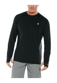 Coolibar---UV-sportshirt-voor-heren---Longsleeve---Agility-Performance---Zwart