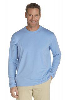 Coolibar---UV-longsleeve-shirt-heren---Lichtblauw
