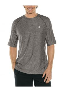 Coolibar---UV-sportshirt-voor-heren---Agility-Performance---Houtskoolgrijs