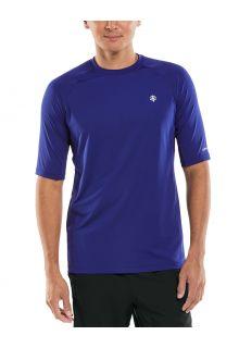 Coolibar---UV-sportshirt-voor-heren---Agility-Performance---Donkerblauw