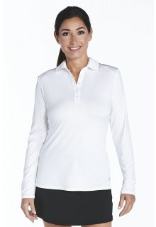 Coolibar---UV-Polo-longsleeve-dames---wit-