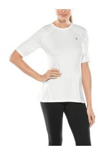 Coolibar---UV-sportshirt-voor-dames---Devi-Fitness---Wit