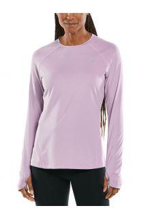 Coolibar---UV-sportkleding-voor-dames---Longsleeve-fitnesstop---Devi---Lavendel