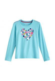 Coolibar---UV-Shirt-voor-kinderen---Longsleeve---Coco-Plum-Graphic---Ijsblauw