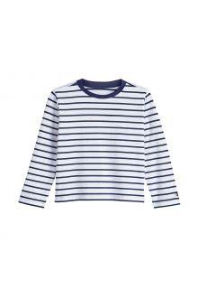 Coolibar---UV-Shirt-voor-peuters---Longsleeve---Coco-Plum---Wit/Navy
