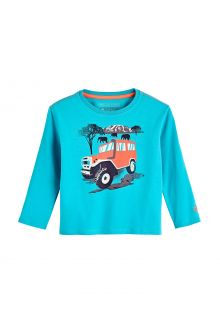 Coolibar---UV-Shirt-voor-peuters---Longsleeve---Coco-Plum-Graphic---Turquoise