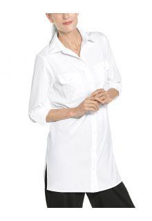 Coolibar---UV-Blouse-voor-dames---Santorini-Tunic-Blouse---Wit