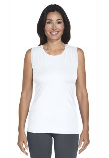 Coolibar---UV-singlet-dames---wit