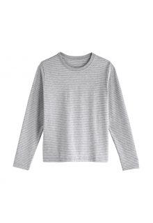 Coolibar---UV-Shirt-voor-kinderen---Longsleeve---Coco-Plum---Mist/Wit