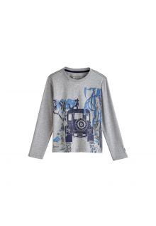 Coolibar---UV-shirt-voor-jongens-lange-mouwen---Safari-Jeep-Heidegrijs