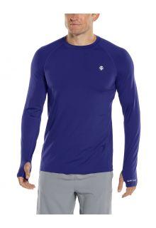 Coolibar---UV-sportshirt-voor-heren---Longsleeve---Agility-Performance---Donkerblauw