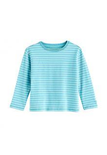 Coolibar---UV-Shirt-voor-peuters---Longsleeve---Coco-Plum---Ijsblauw/wit