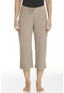 Coolibar---UV-broek-capri-dames---taupe