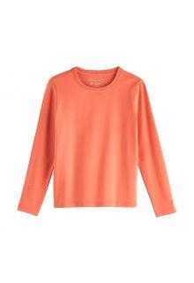 Coolibar---UV-Shirt-voor-kinderen---Longsleeve---Coco-Plum---Zacht-Koraal
