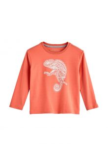 Coolibar---UV-Shirt-voor-peuters---Longsleeve---Coco-Plum-Graphic---Zacht-Koraal