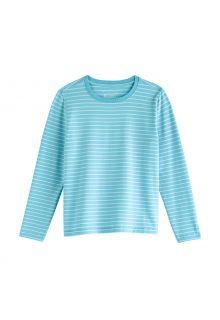 Coolibar---UV-Shirt-voor-kinderen---Longsleeve---Coco-Plum---Ijsblauw/wit