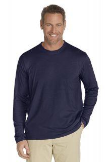 Coolibar---UV-longsleeve-shirt-heren---Donkerblauw