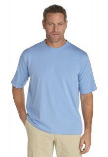 Coolibar---UV-shirt-heren---licht-blauw