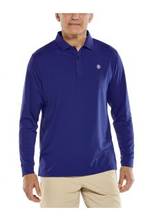 Coolibar---UV-Sport-Polo-voor-heren---Longsleeve---Erodym-Golf---Donkerblauw