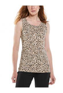 Coolibar---UV-Tank-Top-voor-dames---Morada-Everyday---Donker-Taupe-Cheetah