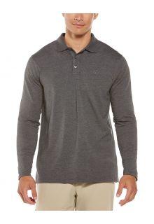 Coolibar---UV-Poloshirt-voor-heren---Longsleeve---Coppitt---Houtskoolgrijs