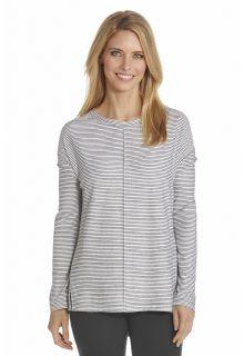 Coolibar---UV-shirt-dames---Zwart-/-Wit