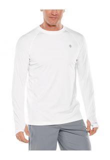 Coolibar---UV-sportshirt-voor-heren---Longsleeve---Agility-Performance---Wit