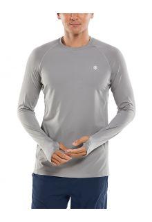 Coolibar---UV-sportshirt-voor-heren---Longsleeve---Agility-Performance---Grijs