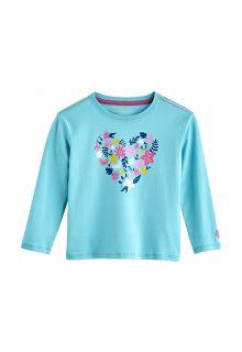 Coolibar---UV-Shirt-voor-peuters---Longsleeve---Coco-Plum-Graphic---Ijsblauw