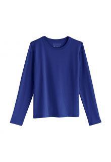 Coolibar---UV-Shirt-voor-kinderen---Longsleeve---Coco-Plum---Saffierblauw