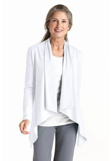 Coolibar---UV-vest-dames---wit