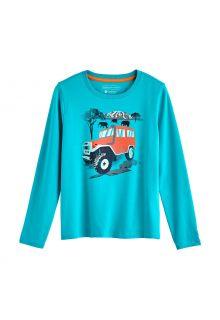Coolibar---UV-Shirt-voor-kinderen---Longsleeve---Coco-Plum-Graphic---Turquoise