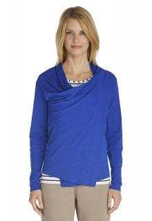 Coolibar---UV-vest-dames---Kobalt-blauw