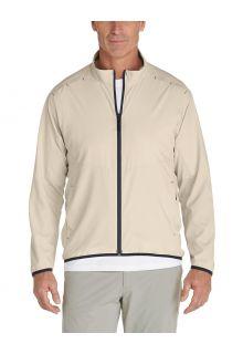 Coolibar---Opbergbaar-UV-Zonnejack-voor-heren---Arcadia---Khaki
