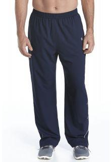 Coolibar---UV-fitness-broek-heren---donkerblauw