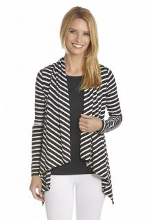 Coolibar---UV-vest-dames---Zwart-/-Wit
