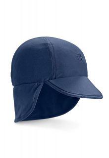 Coolibar---UV-zonnepet-voor-baby's-met-nekflap---Navy-blauw