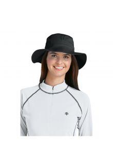Coolibar---UV-bucket-hat-unisex---Zwart