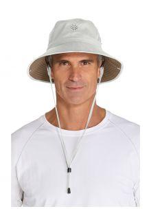 Coolibar---Lichtgewicht-UV-Bucket-Hoed-voor-heren---Chase---Steen/Khaki